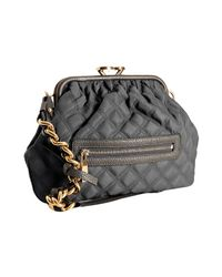 Marc Jacobs - Gray Grey Quilted Nylon Little Stam Kisslock Chain Shoulder Bag - Lyst