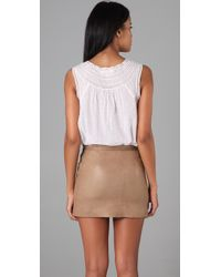 Rebecca Taylor - White Embroidered Tank - Lyst
