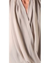 Parker | Gray Draped Front Top | Lyst