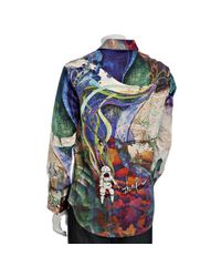 Robert Graham - Limited Edition Blue Printed P. Stephens.mc Button Front Shirt for Men - Lyst