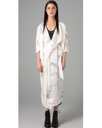 Alexander Wang | White Doodle Print Trench Coat | Lyst