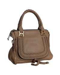 Chloé - Brown Nutmeg Calfskin Marcie Crossbody Bag - Lyst
