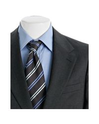 Prada - Gray Charcoal Check Wool 2-button Suit with Flat Front Trousers for Men - Lyst