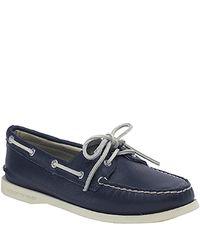 Sperry Top-Sider | Blue Original 2 Eye - Navy Deerskin Boat Shoe | Lyst