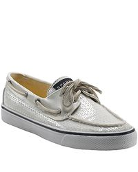 Sperry Top-Sider | Bahama - White Sequin Boat Shoe | Lyst