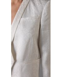 Helmut Lang - White Jacquard Tuxedo Jacket - Lyst