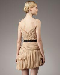 Robert Rodriguez   Natural Lynda Pleated Silk Dress   Lyst