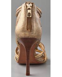 Tory Burch | Metallic Constance High-heeled Sandals | Lyst