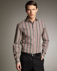 Ralph Lauren | Black Bond Striped Poplin Shirt for Men | Lyst