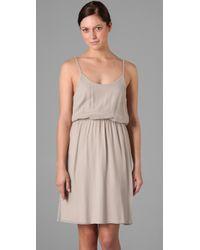 Alice + Olivia - Gray Lauren Blouson Dress - Lyst