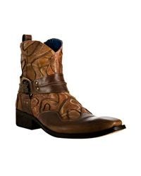 Mark Nason | Brown Rock Lives Cognac Stitched Leather Basemint Harness Boots for Men | Lyst