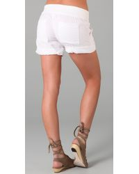 Splendid | Gray Double Gauze Shorts | Lyst
