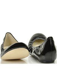 Vera Wang Lavender - Black Lillian Patent Leather Ballet Flats - Lyst