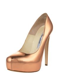 Brian Atwood | Maniac Metallic Pump, Rose Gold | Lyst