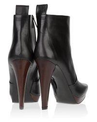 Calvin Klein - Black Leather Giselle Platform Booties - Lyst