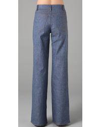 Derek Lam - Blue Flare Trouser Jeans - Lyst