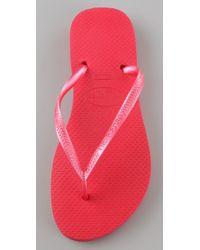 Havaianas - Pink Slim Flip Flops - Lyst