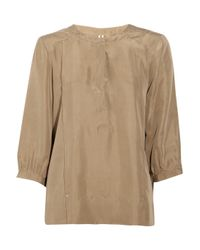 IRO | Natural Mizra Brushed-silk Top | Lyst