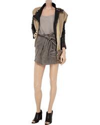 IRO   Gray Litov Leather Paperbag Skirt   Lyst