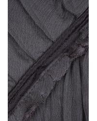 Miguelina | Gray Sophia Silk-chiffon Top | Lyst