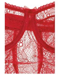 Mimi Holliday by Damaris - Red Lintensité Lace Bodysuit - Lyst