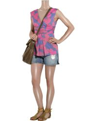 Paul & Joe - Pink Castel Butterfly-print Cotton Top - Lyst