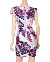 Tibi - Purple Madeline Floral Silk-blend Dress - Lyst