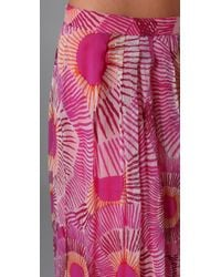 Antik Batik - Pink Kea Print Long Skirt - Lyst