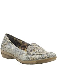 Aquatalia | Multicolor Wander - Taupe Snake Loafer | Lyst