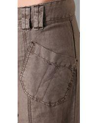 Free People | Gray Benjis Wide Leg Trousers | Lyst