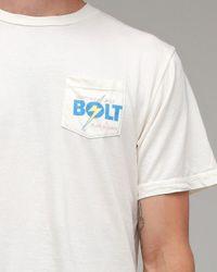 Lightning Bolt | White Pocket Shop Tee for Men | Lyst