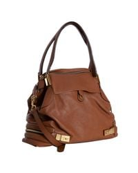Chloé - Brown Nutmeg Calfskin Cary Side Zipper Satchel - Lyst