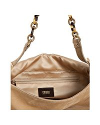 Fendi | Natural Tan Brushed Shimmer Leather Mamma Shoulder Bag | Lyst