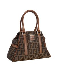 Fendi | Brown Tobacco Zucca Canvas New Bag De Jour Medium Bag | Lyst