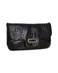 Jimmy Choo | Black Milla Large Glitter Clutch Bag | Lyst