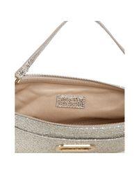 Jimmy Choo | Metallic Champagne Glitter Fabric Trudy Shoulder Bag | Lyst