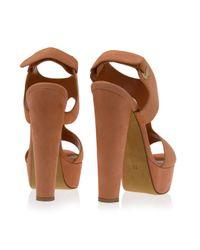 Eastland - Pink Cutout Suede High Heels - Lyst