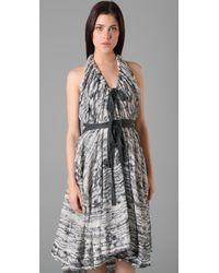L.A.M.B. | Black Cloud Halter Dress | Lyst