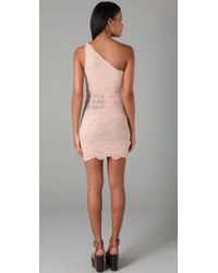 Nightcap - Natural Victorian Lace One Shoulder Dress - Lyst