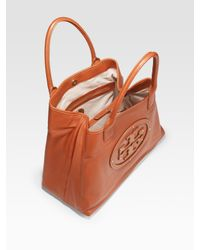 Tory Burch - Brown Stacked Logo Summer Tote Bag - Lyst
