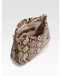 Tory Burch | Natural Kellan Python-print Leather Hobo | Lyst