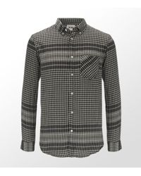 Acne Studios | Gray Lightweight Cotton Checked Shirt for Men | Lyst