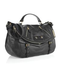 Alexander McQueen - Black Faithful Medium Polished-leather Satchel - Lyst