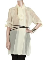 Alexander McQueen - White Oversized Pirate Blouse - Lyst