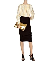 Alexander McQueen | White Pleated Silk Blouse | Lyst