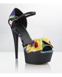 Carvela Kurt Geiger | Multicolor Girl Floral Peeptoe Platform | Lyst
