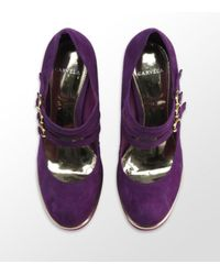 Carvela Kurt Geiger | Assess Triple Strap Courts Purple | Lyst