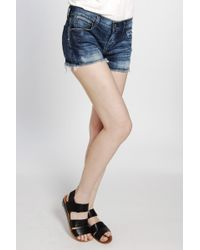 Citizens of Humanity | Blue Manic Cheeky Short | Lyst