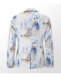 Dolce & Gabbana | White Hawaiian Print Tailored Blazer for Men | Lyst