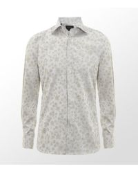 Duchamp | White Floral Jacquard Shirt for Men | Lyst